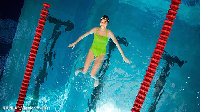 写真:オリンピックを夢見るユスラ