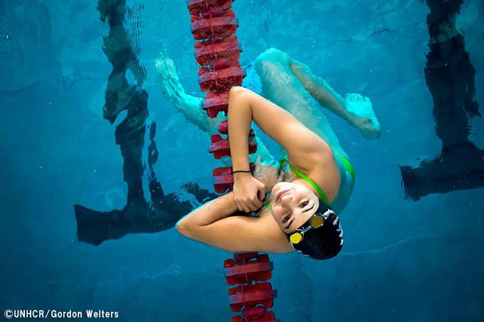写真:オリンピック出場を夢見るユスラ