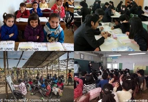 国連UNHCR協会の出張授業と学習訪問(難民とUNHCRと国際協力)