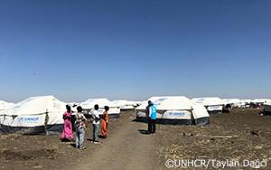 UNHCRが最初のエチオピア難民をスーダンの新たな地へと移送