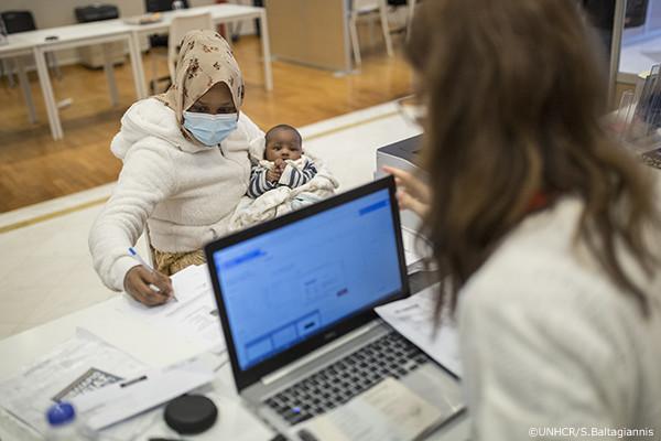 ソマリア難民の母子