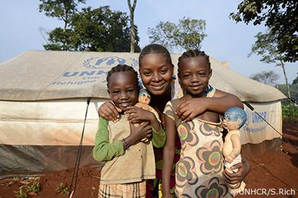 写真:UNHCRのシェルター