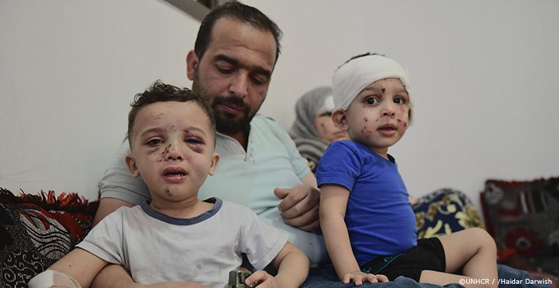 ベイルートで暮らすシリア難民の一家