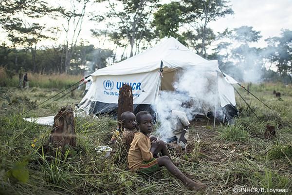 ブルンジ難民の家族
