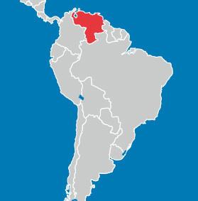 ベネズエラの地図