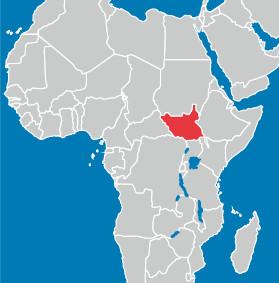 南スーダンの地図